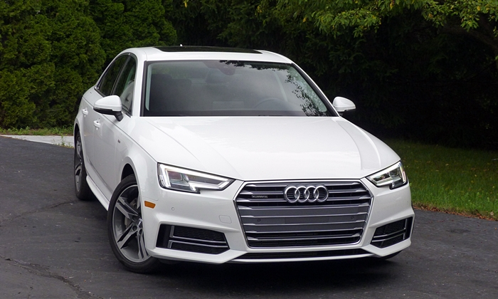 A4 Reviews: 2017 Audi A4 front view