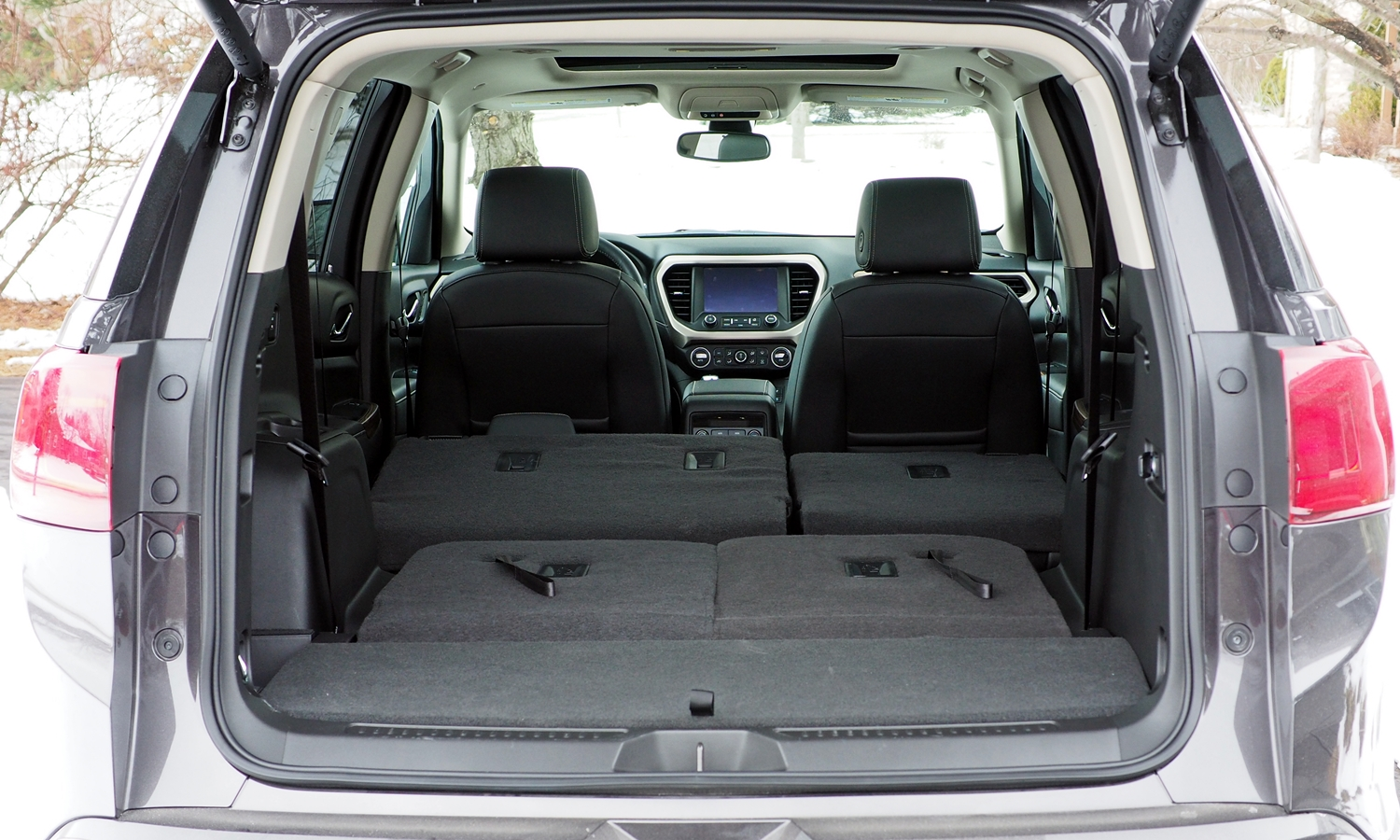 GMC Acadia Photos: 2017 GMC Acadia cargo area both rows folded
