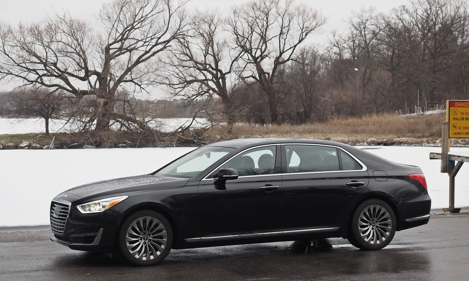 Genesis G90 Photos: 2017 Genesis G90 front side view