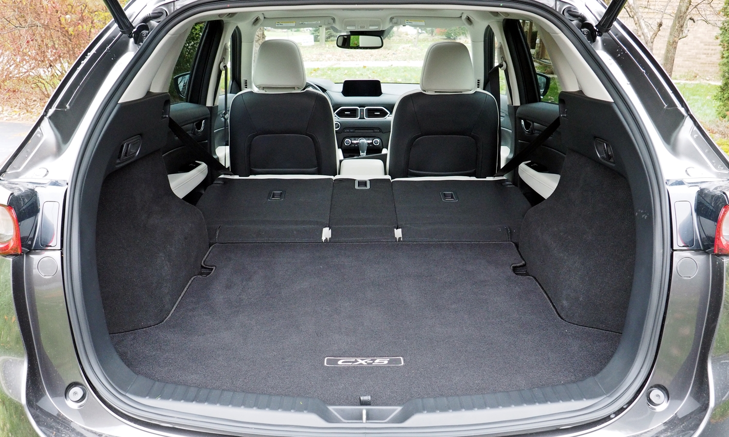 CX-5 Reviews: 2017 Mazda CX-5 cargo area seats folded.
