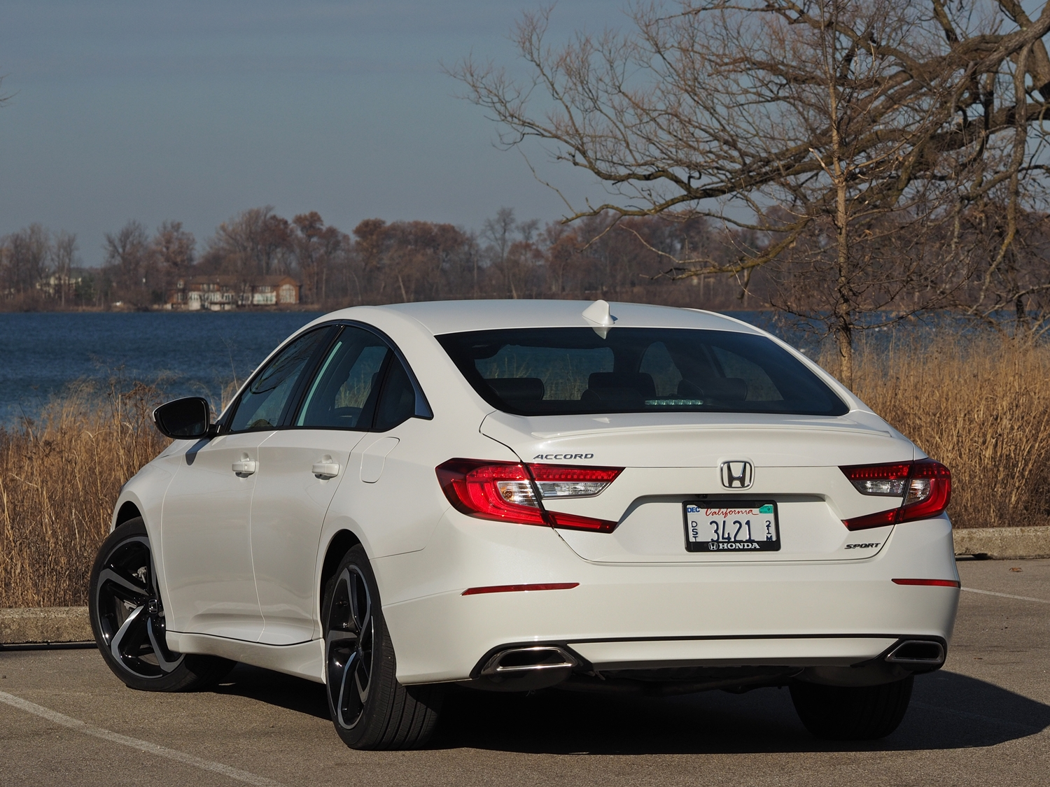 honda accord   honda accord sport rear angle view