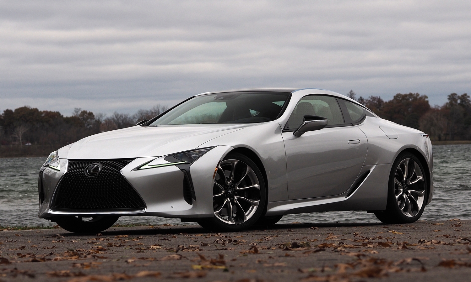 Lexus LC 500 front quarter view low