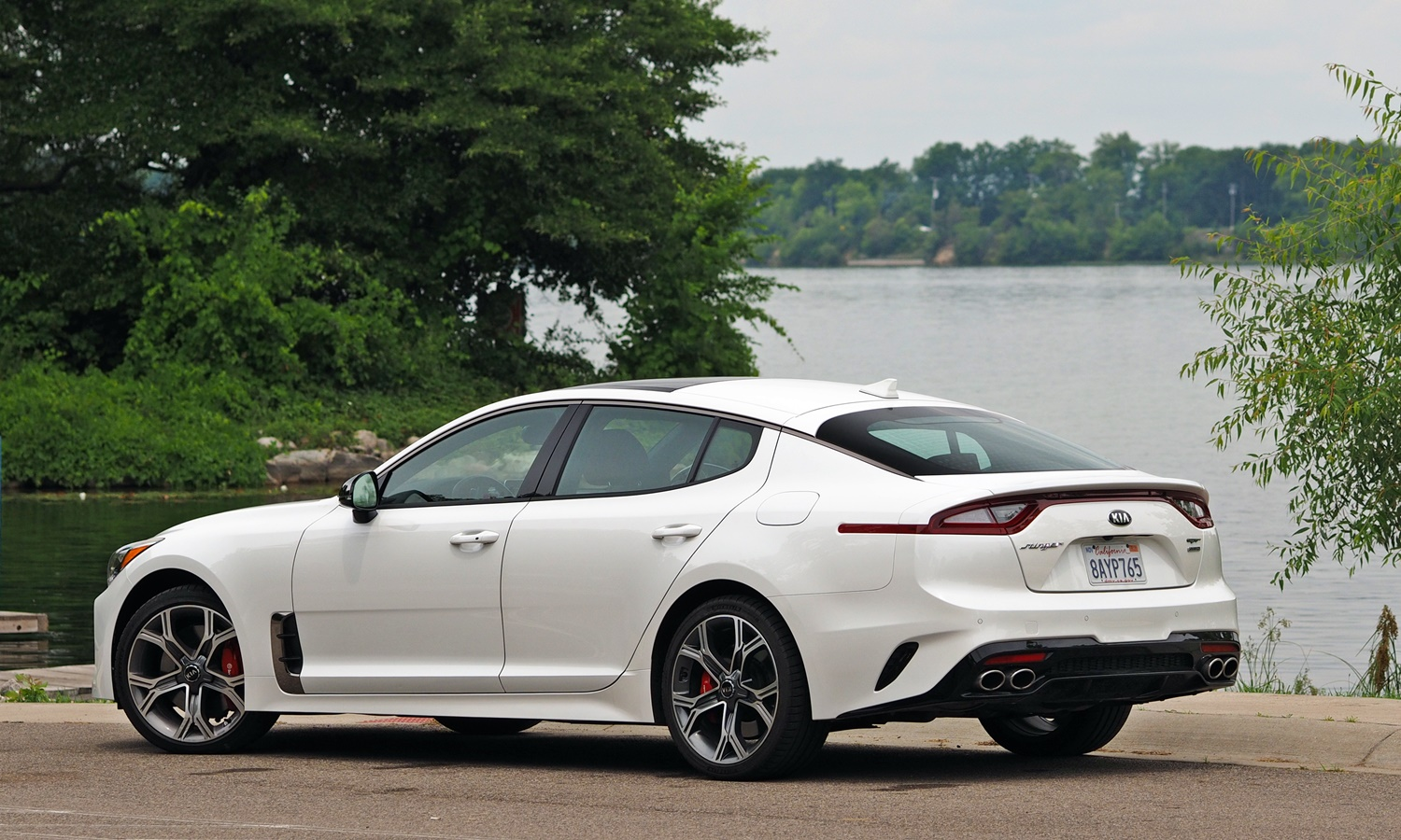 Stinger Reviews: Kia Stinger GT rear quarter