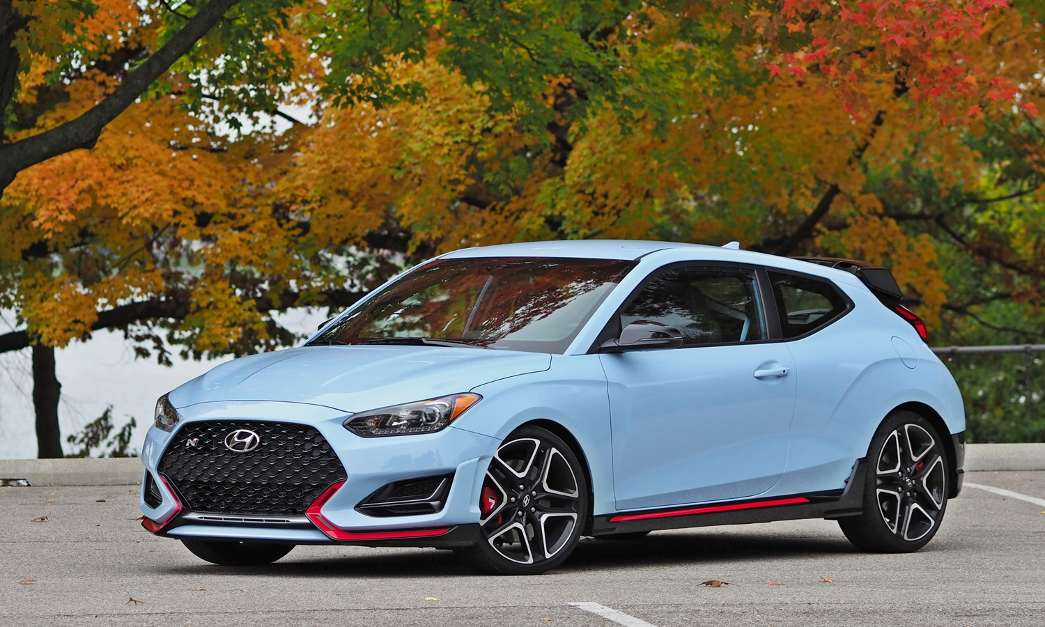 Hyundai Veloster N front quarter view