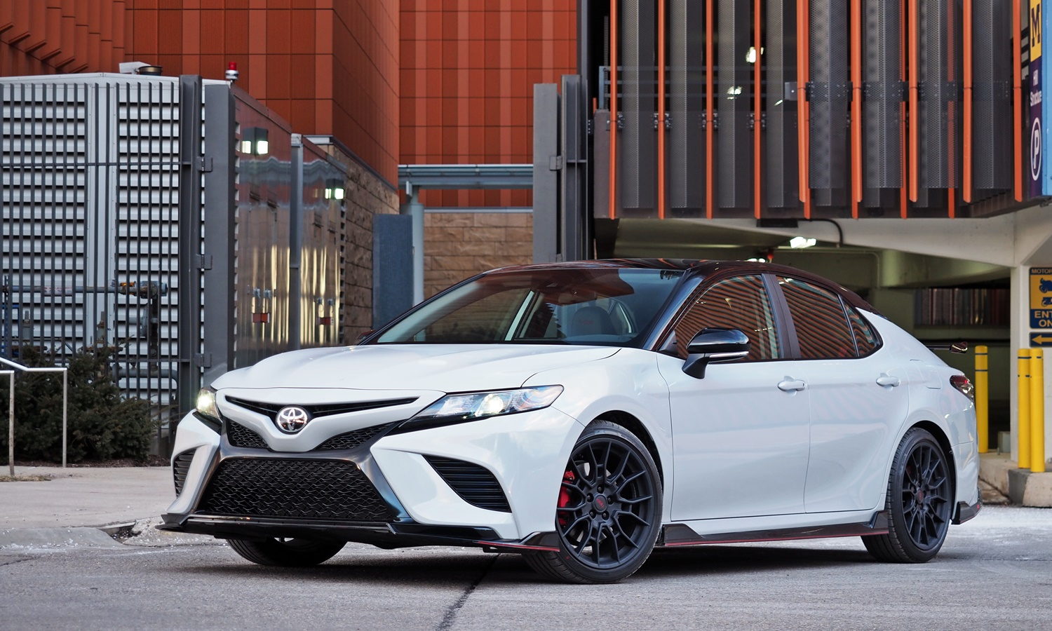 Toyota Camry TRD front 3/4 view